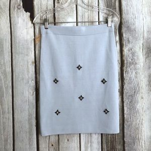 ASOS Embellished Bead Knit Pencil Skirt